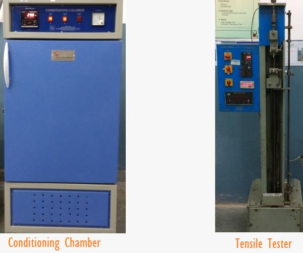 Conditioning Chamber and Tensile Tester