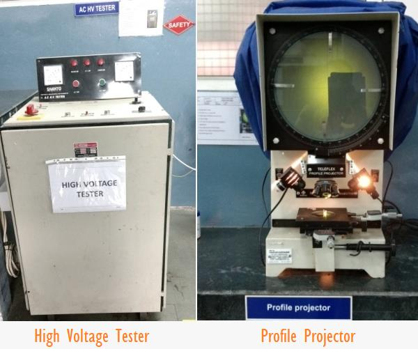 Profile Projector and High Voltage Tester